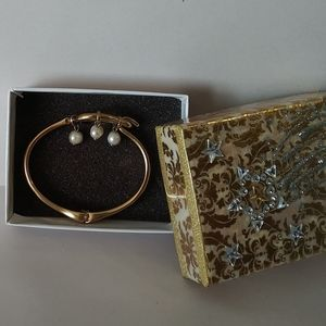 RARE Lucky Brand Bracelet with Pearl Charms